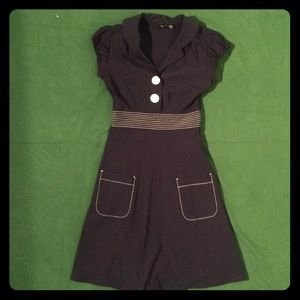 Ruby Rox Midi Dress with Buttons!!